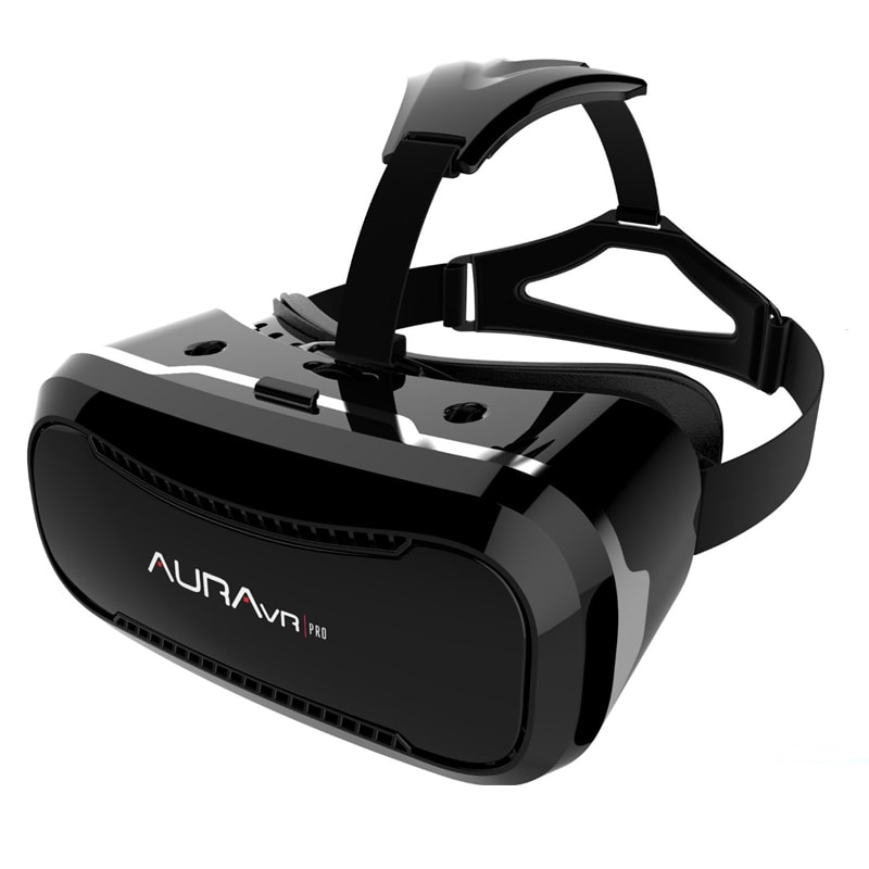 Buy AuraVR Pro Virtual Reality Viewer Plastic VR Headset For Smartphones Comes With 2 Way Adjustable Black online