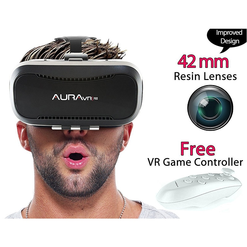 AuraVR Pro Virtual Reality Viewer Plastic VR Headset For Smartphones Comes With 2 Way Adjustable Black images, Buy AuraVR Pro Virtual Reality Viewer Plastic VR Headset For Smartphones Comes With 2 Way Adjustable Black online at price Rs. 1,789