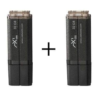 AXL Cordial 32 GB Pendrive (Pack of 2) Black Price in India