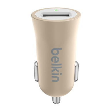Belkin Premium Car Charger with CEW 2.4 Amp for Apple and Android Devices Gold Price in India