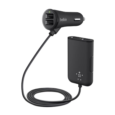 Belkin Road Rockstar Car Charger 7.2 Amp ( 4 Port ) for Apple iPhone, iPad Black Price in India