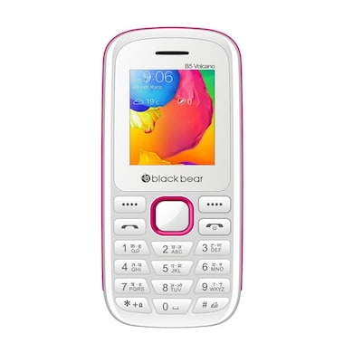 Blackbear B5-Volcano 2000 mAh Battery, 1.8 Inch Display, Bluetooth,Dual SIM (White) Price in India