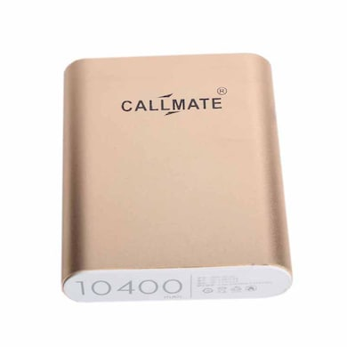 Callmate Alloy 10400 mAh Power Bank Gold Price in India