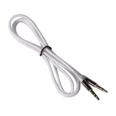 Callmate AUX to AUX Cable Fabric White Price in India