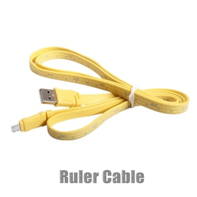 Callmate Data & Charging Cable Ruler for Micro Usb Yellow Price in India