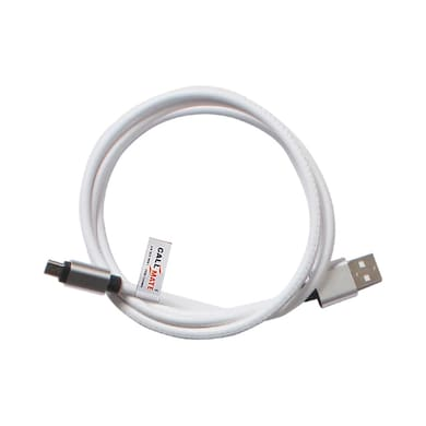 Callmate Leather Data Cable For Micro USB White Price in India