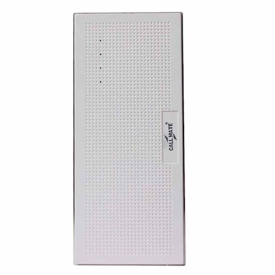Callmate Music Box Metal 13000 mAh Power Bank White Price in India