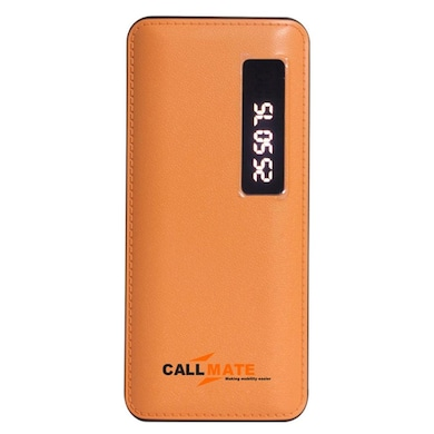 Callmate T21 13000 mAh Power Bank Dual USB with Display LED Light Orange Price in India