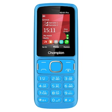 Champion SQ181 PRO Dual Sim Feature Phone (Blue, 32MP RAM, 512MB) Price in India
