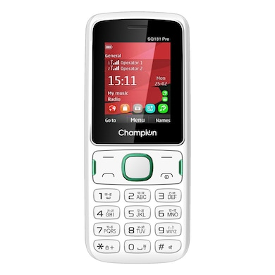 Champion SQ181 PRO Dual Sim Feature Phone (White, 32MP RAM, 512MB) Price in India