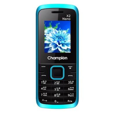 Champion X2 Nano,1.8 Inch Display,Camera,FM Radio | Auto Call Recorder (Sky Blue) Price in India