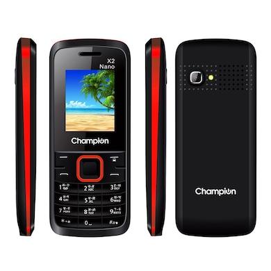 Champion X2 Nano,1.8 Inch Display,Camera,FM Radio | Auto Call Recorder (Black) Price in India