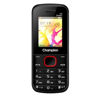 Champion X3 Sultan Mobile with Multi Photo Click (Black and Red) Price in India