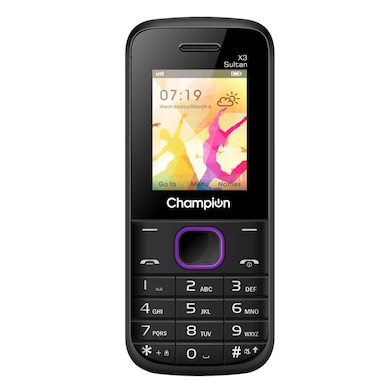 Champion X3 Sultan Mobile with Multi Photo Click (Black and Purple) Price in India