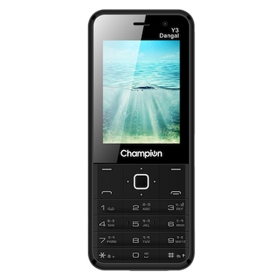 Champion Y3 Dangal,FM Player,Selfie Camera, Call recorder (Black) Price in India