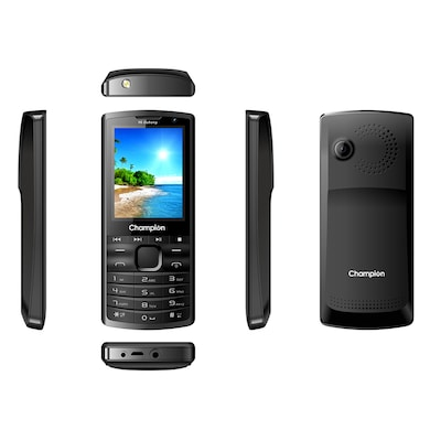 Champion Y6 Dabang Feature Phone (Black, 32MB RAM, 32MB) Price in India