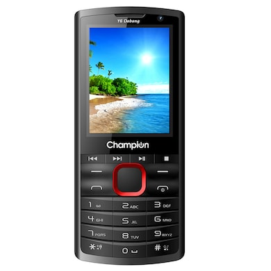 Champion Y6 Dabang Feature Phone (Red, 32MB RAM, 32MB) Price in India