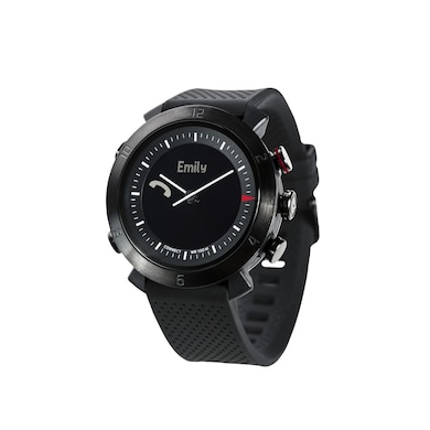 COGITO Classic Silicon Smart Watch (Black Strap) Price in India