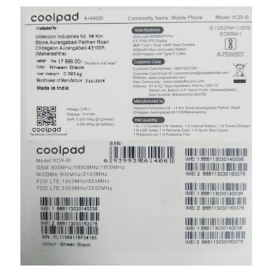 Coolpad Cool Play 6 (6 GB RAM, 64 GB) Sheen Black images, Buy Coolpad Cool Play 6 (6 GB RAM, 64 GB) Sheen Black online at price Rs. 13,149