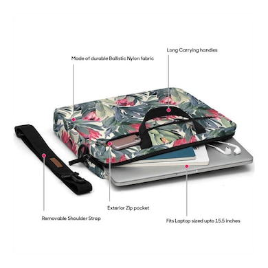 DailyObjects A Painted Protea Pattern Messenger Bag For Up To 14 Inch Laptop Or Macbook Multicolor Price in India