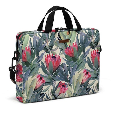 DailyObjects A Painted Protea Pattern Messenger Bag For Up To 15.5 Inch Laptop Or Macbook Multicolor Price in India