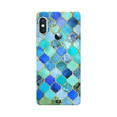 DailyObjects Aqua Blue Gold Moroccan Case Cover For Xiaomi Redmi Note 5 Pro Multicolor Price in India