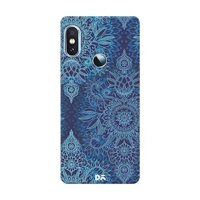 DailyObjects Aqua Cobalt Blue Doodle Pattern Case Cover For Xiaomi Redmi Note 5 Pro Multicolor Price in India