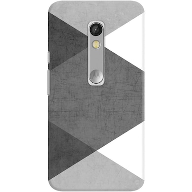 DailyObjects Black and White Triangles Case For Motorola Moto X Play Multicolor Price in India