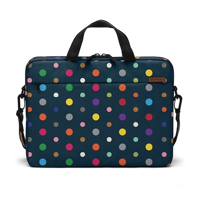 DailyObjects Coloured Dots City Compact Messenger Bag For Up To 15.5 Inch Laptop Or Macbook Multicolor Price in India