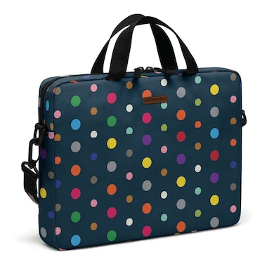 DailyObjects Coloured Dots City Compact Messenger Bag For Up To 14 Inch Laptop Or Macbook Multicolor Price in India