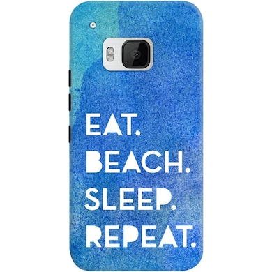 DailyObjects Eat Beach Sleep Repeat Water Case For HTC One M9 Multicolor Price in India