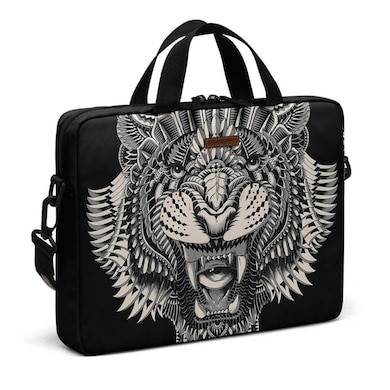 DailyObjects Eye Of The Tiger City Compact Messenger Bag For Up To 15.5 Inch Laptop Or Macbook Multicolor Price in India