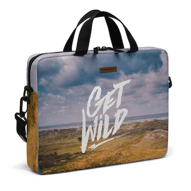 DailyObjects Get Wild City Compact Messenger Bag For Up To 15.5 Inch Laptop Or Macbook Multicolor Price in India