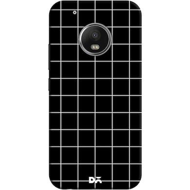 DailyObjects Grid Black Case Cover For Motorola Moto G5 Plus Multicolor Price in India