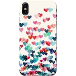 Buy DailyObjects Heart Connections Case Cover For iPhone X Multicolor Online