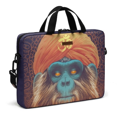 DailyObjects Hindu Shaman City Compact Messenger Bag For Up To 14 Inch Laptop Or Macbook Multicolor Price in India