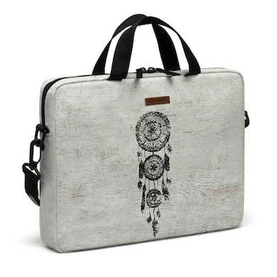 DailyObjects Hipster Lace Black Dreamcatcher Messenger Bag For Up To 14 Inch Laptop Or Macbook Multicolor Price in India