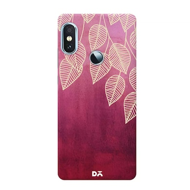 DailyObjects Magenta Garden Watercolor Ink Leaves Case Cover For Xiaomi Redmi Note 5 Pro Multicolor Price in India