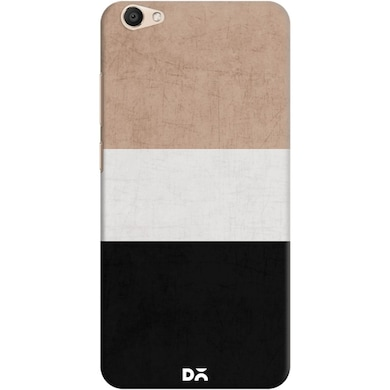 DailyObjects Natural Cream and Black Case For Vivo V5 Multicolor Price in India