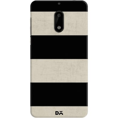 DailyObjects Vintage Black Stripes Case For Nokia 6 Multicolor Price in India