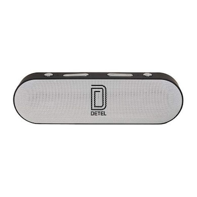 Detel Sargam (DBS-20) Portable Bluetooth Speakers Black and White Price in India