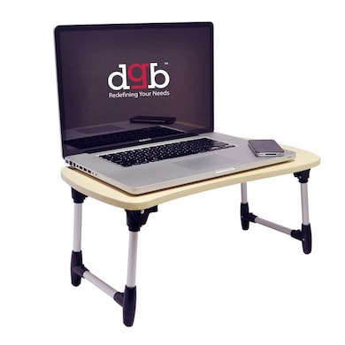 DGB Laptab LD2013 Multi Functional Laptop Table Beige and Silver Price in India