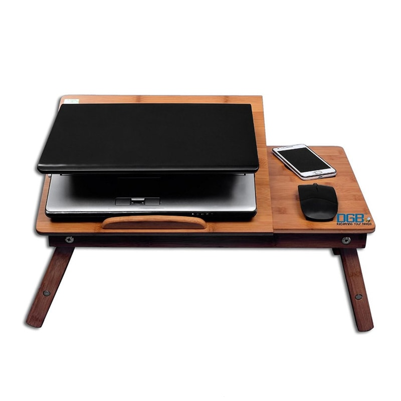 dgb murray wooden laptop table with cooling fan wooden price in india