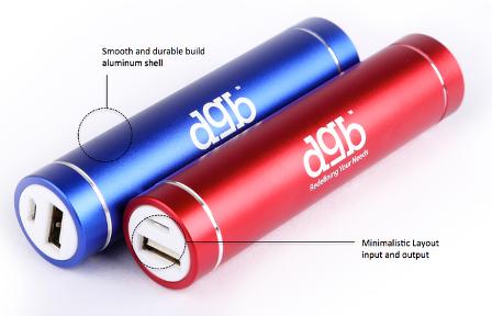 Buy DGB Mustang PB-2400 Power Bank 2200 mAh Red online