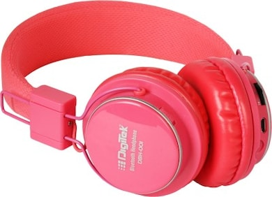 Digitek DBH 001 Bluetooth Headset (Pink, Over the Ear) Price in India