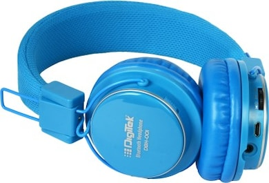 Digitek DBH 001 Bluetooth Headset (Blue, Over the Ear) Price in India