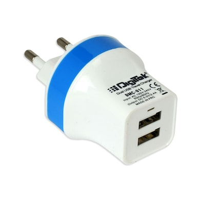 03ec59fcb9c3d8 Digitek DMC-011 Dual USB Travel Charger Blue Price in India – Buy ...