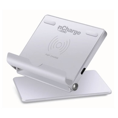 DOMO nCharge AirPad M350 Wireless Charger with Adjustable Phone Mount - Qi Standard Silver Price in India