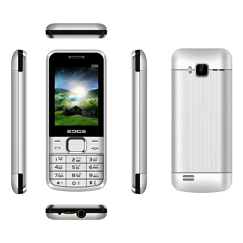 Buy Edge E66 Dual Sim Feature Phone Silver online