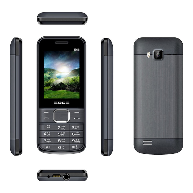 Edge E66 Dual Sim Feature Phone Black images, Buy Edge E66 Dual Sim Feature Phone Black online at price Rs. 935